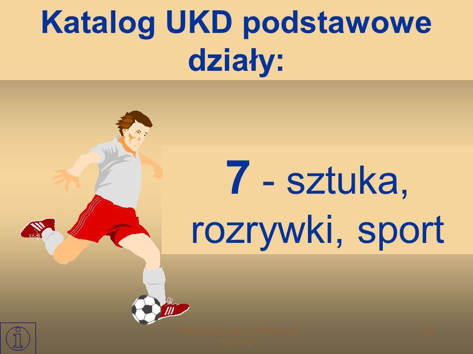 Katalog UKD podstawowe działy: