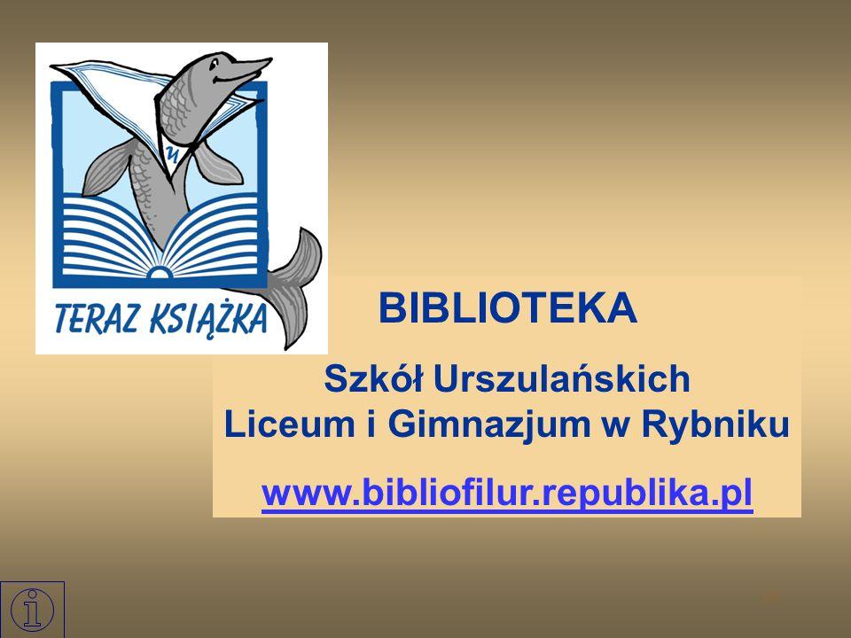 Szkół Urszulańskich Liceum i Gimnazjum w Rybniku