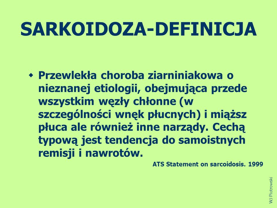 SARKOIDOZA-DEFINICJA