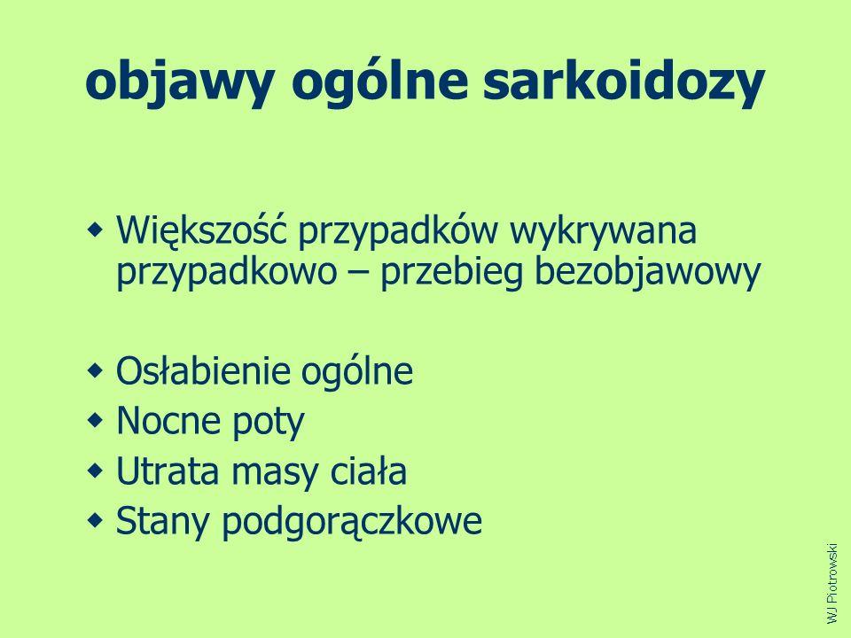 objawy ogólne sarkoidozy