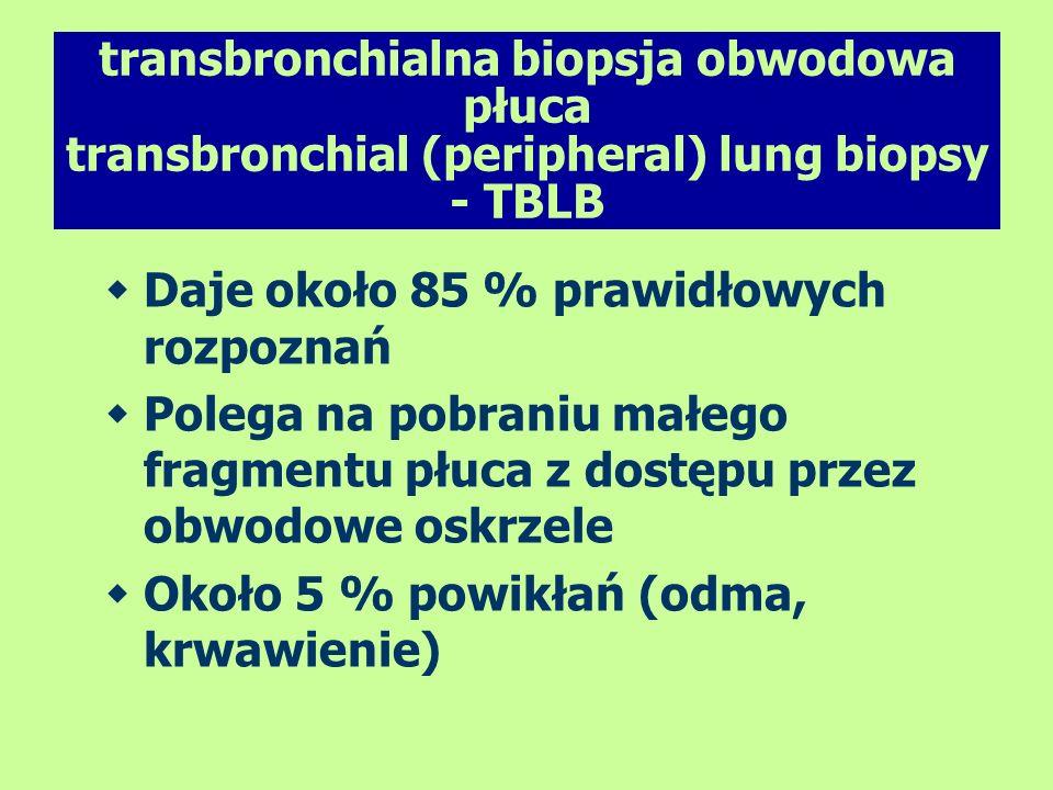 transbronchialna biopsja obwodowa płuca transbronchial (peripheral) lung biopsy - TBLB