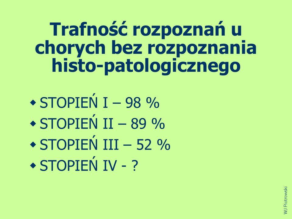 Trafność rozpoznań u chorych bez rozpoznania histo-patologicznego