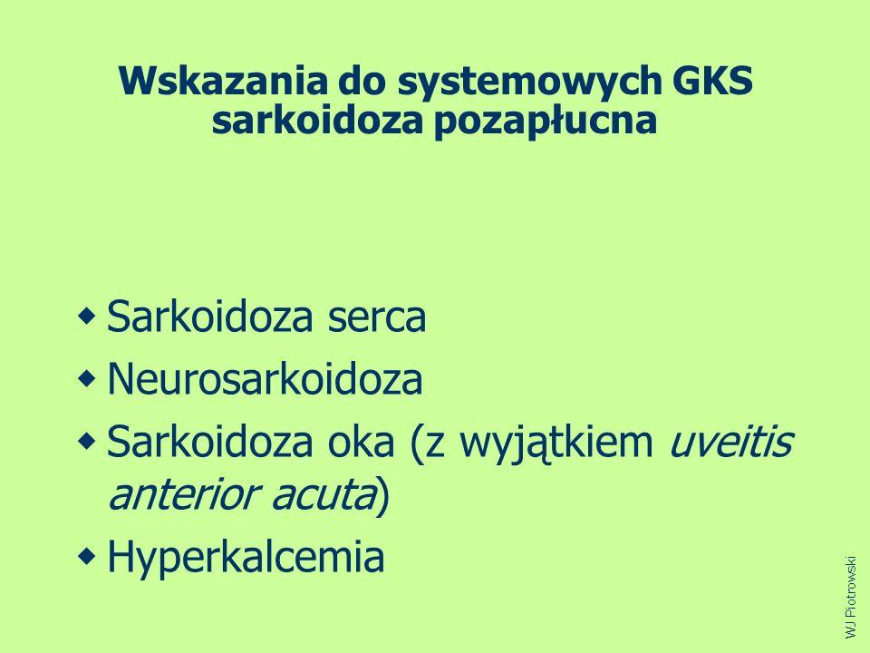 Wskazania do systemowych GKS sarkoidoza pozapłucna