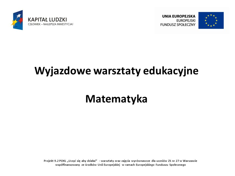 Wyjazdowe warsztaty edukacyjne