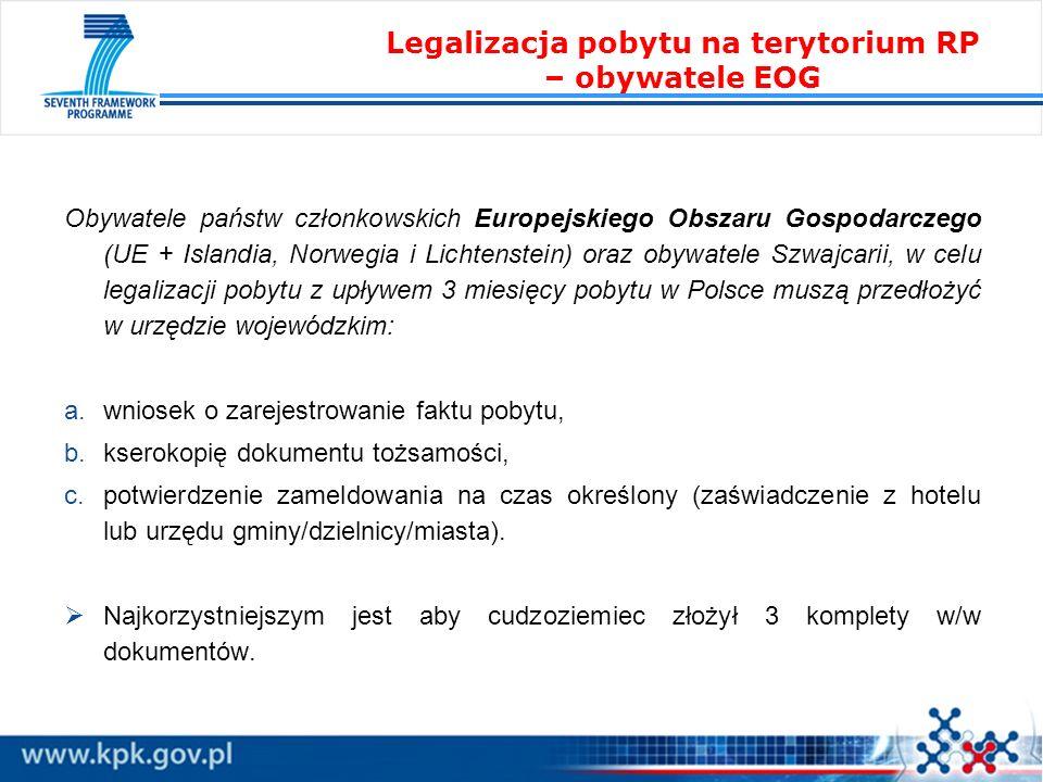 Legalizacja pobytu na terytorium RP – obywatele EOG