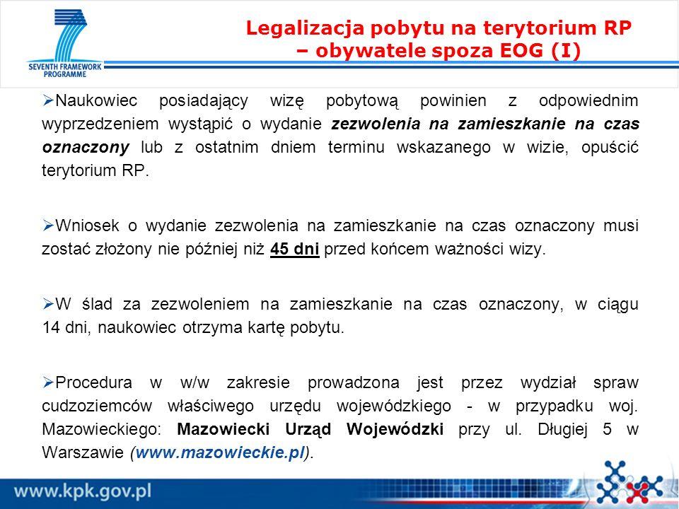 Legalizacja pobytu na terytorium RP – obywatele spoza EOG (I)
