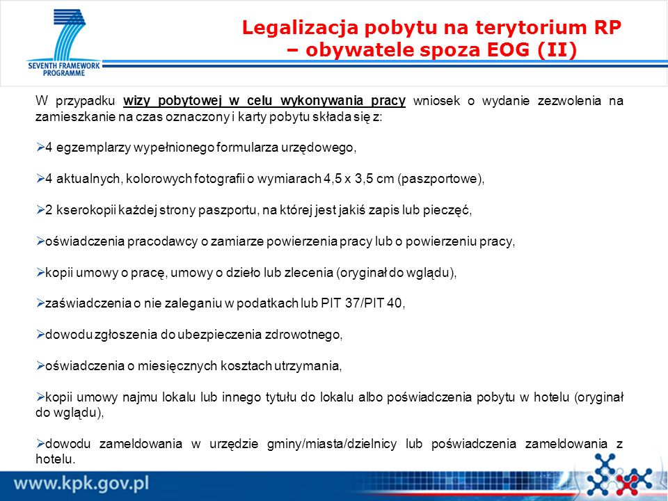 Legalizacja pobytu na terytorium RP – obywatele spoza EOG (II)
