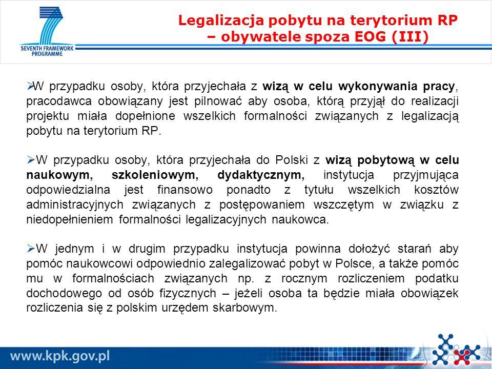 Legalizacja pobytu na terytorium RP – obywatele spoza EOG (III)