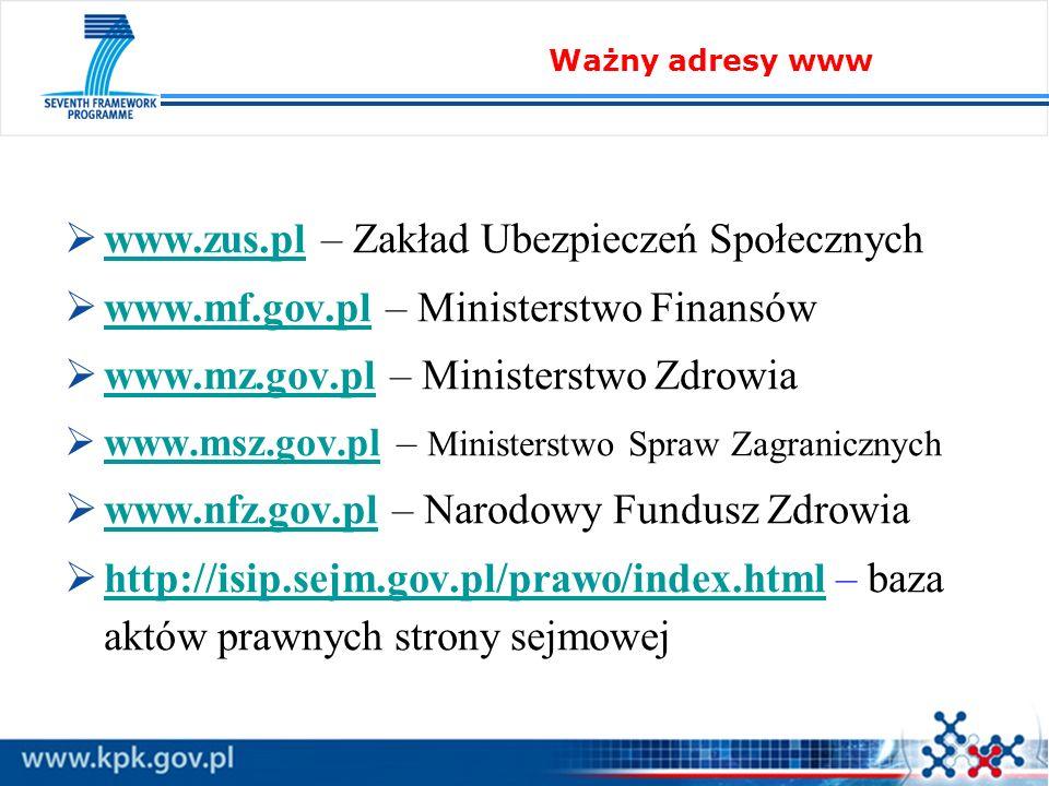 www.zus.pl – Zakład Ubezpieczeń Społecznych