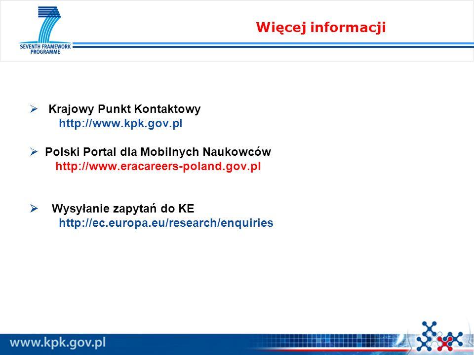 Więcej informacji Krajowy Punkt Kontaktowy http://www.kpk.gov.pl