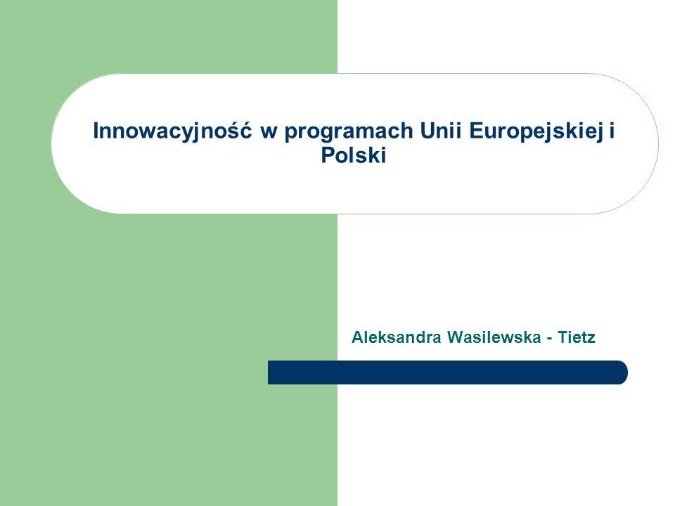 Innowacyjność w programach Unii Europejskiej i Polski