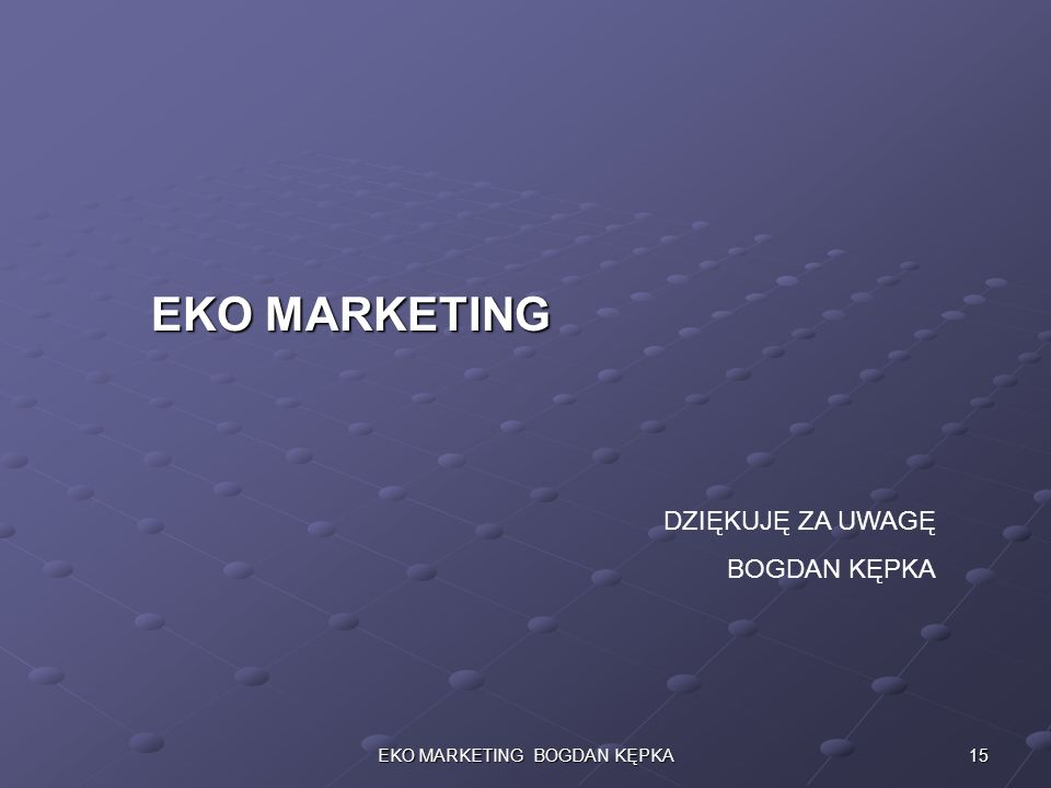 EKO MARKETING BOGDAN KĘPKA