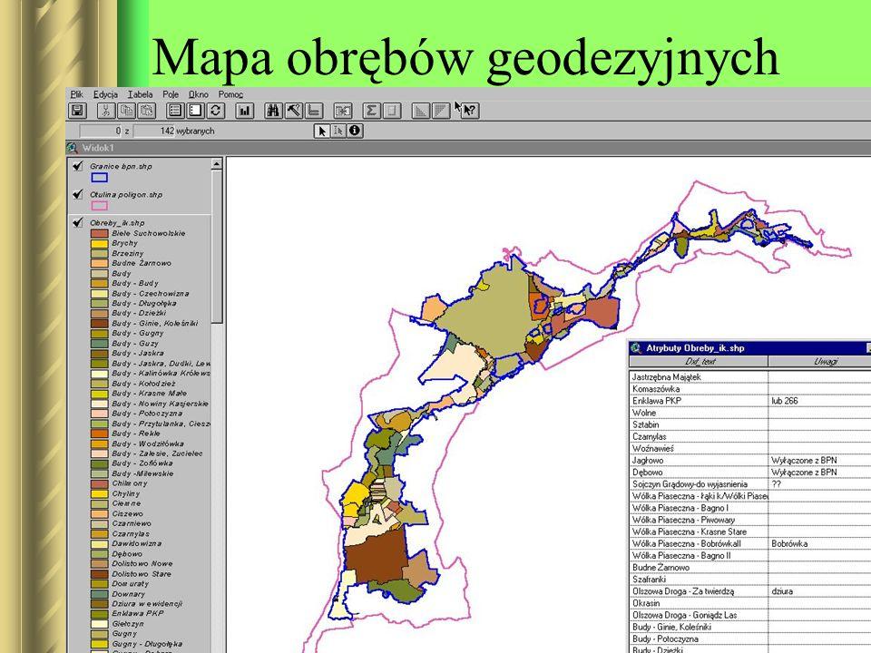Mapa obrębów geodezyjnych