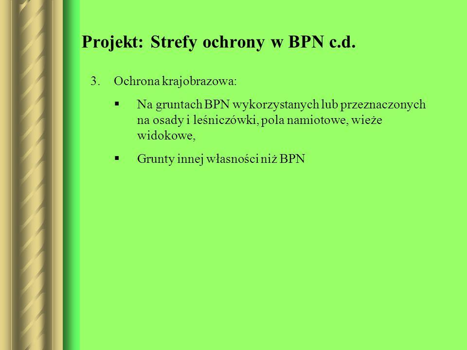 Projekt: Strefy ochrony w BPN c.d.