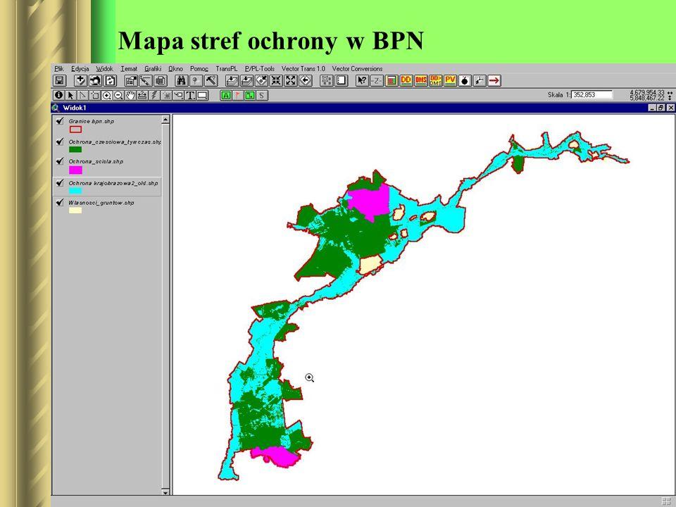 Mapa stref ochrony w BPN