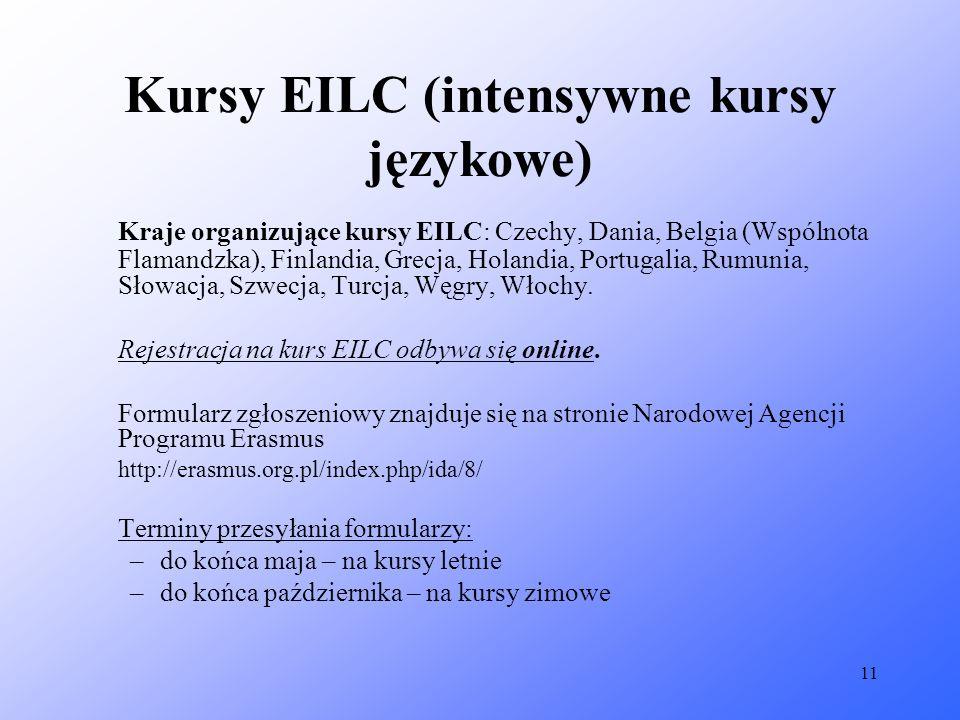 Kursy EILC (intensywne kursy językowe)