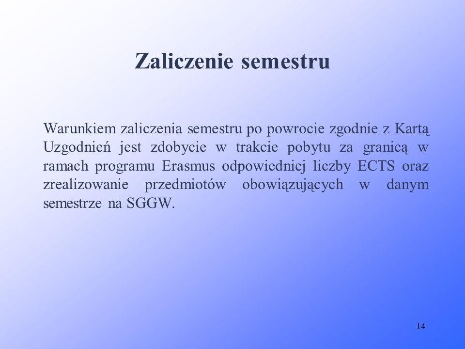 Zaliczenie semestru