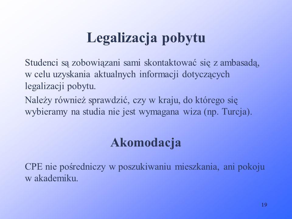 Legalizacja pobytu Akomodacja