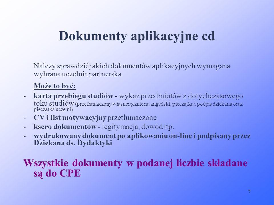 Dokumenty aplikacyjne cd