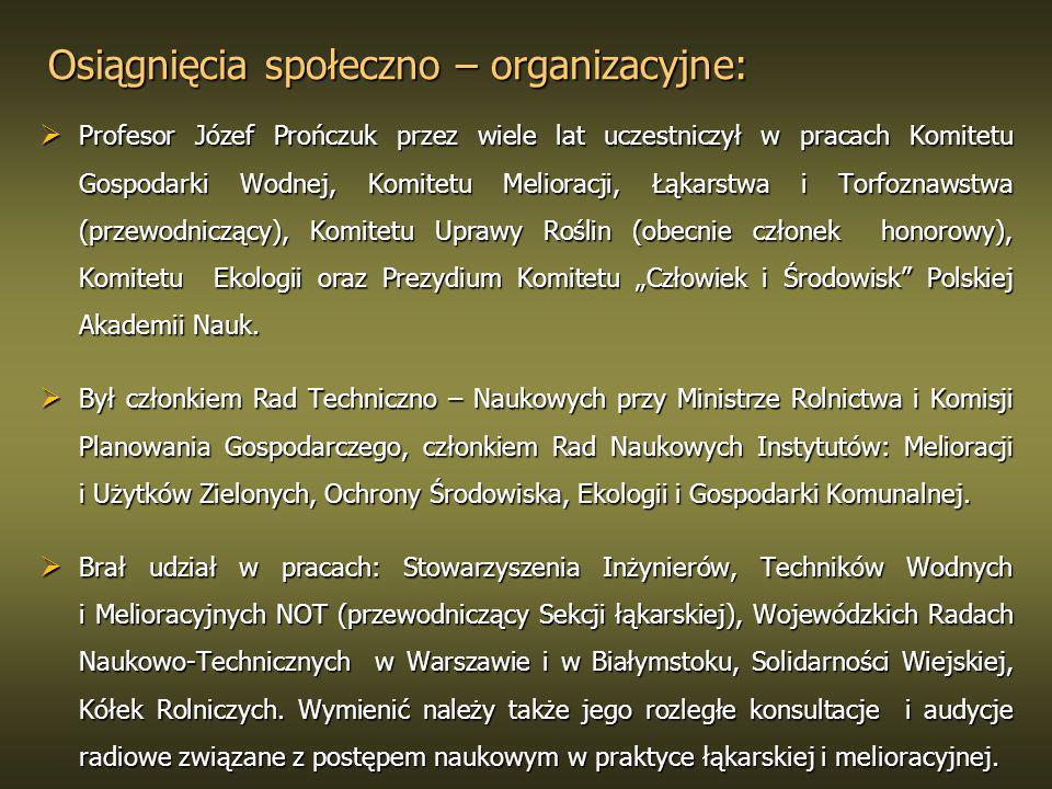 Osiągnięcia społeczno – organizacyjne: