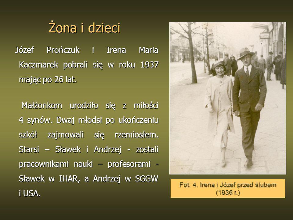 Fot. 4. Irena i Józef przed ślubem (1936 r.)