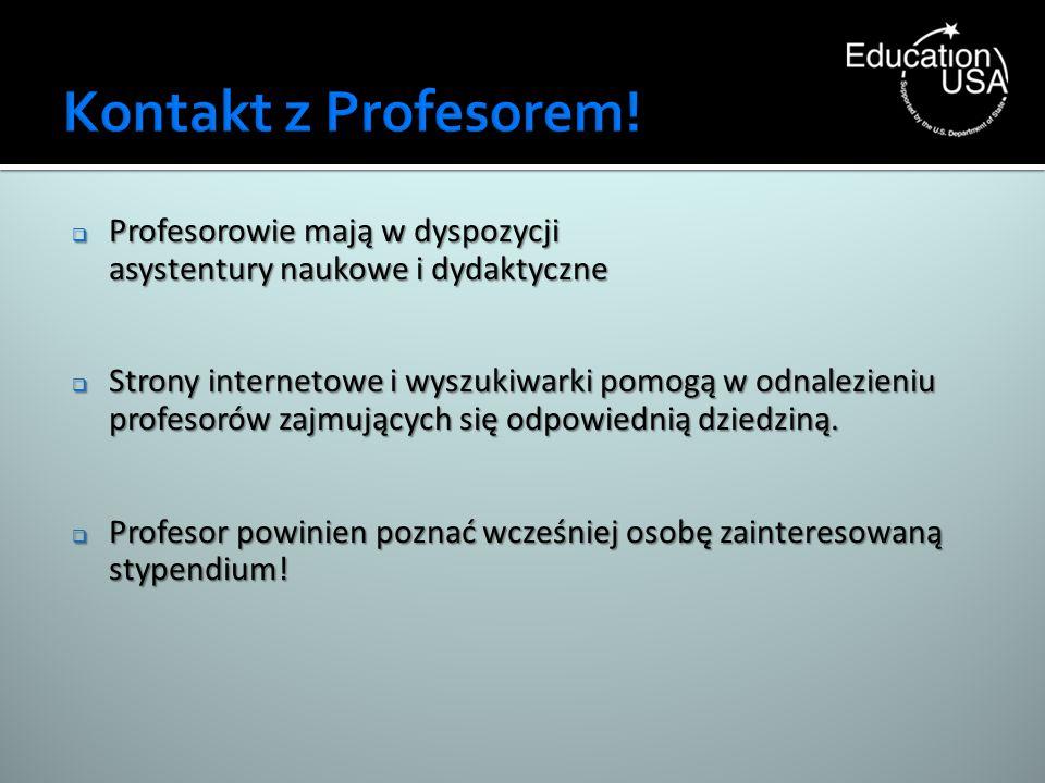 Kontakt z Profesorem! Profesorowie mają w dyspozycji