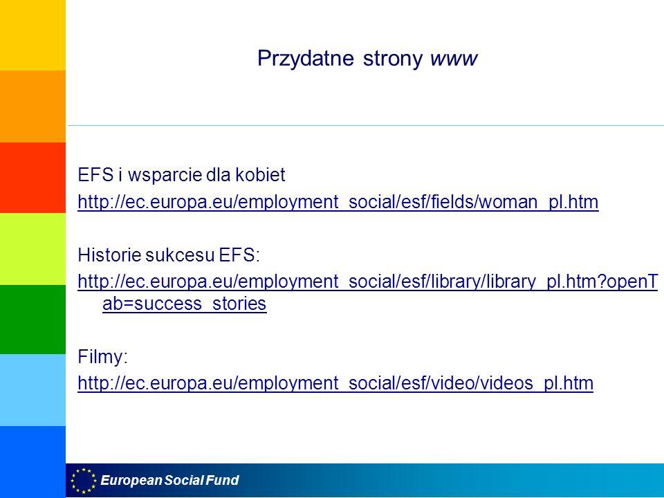 Przydatne strony www EFS i wsparcie dla kobiet