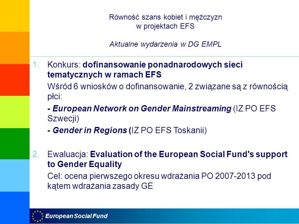 Wśród 6 wniosków o dofinansowanie, 2 związane są z równością płci: