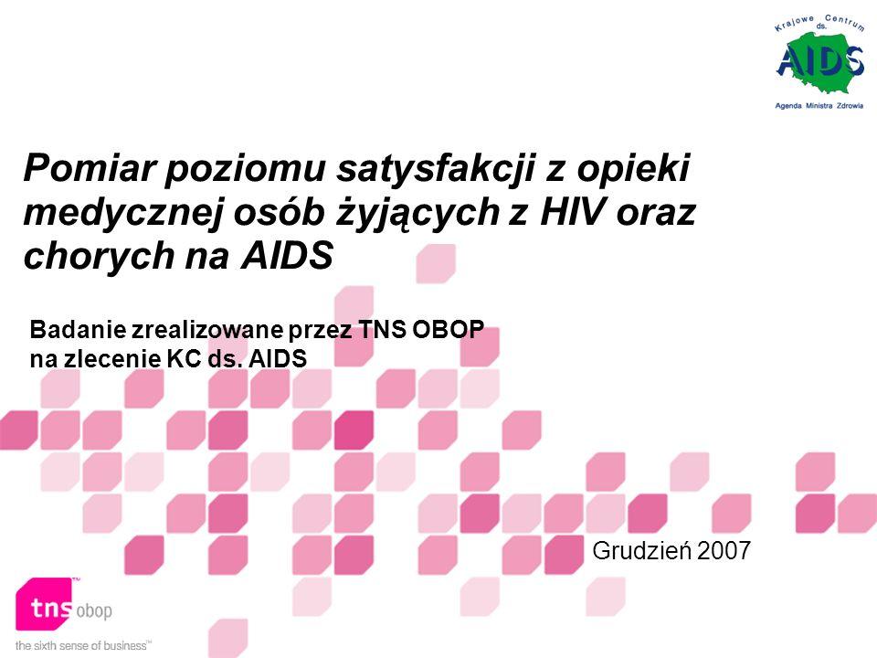 Pomiar poziomu satysfakcji z opieki medycznej osób żyjących z HIV oraz chorych na AIDS