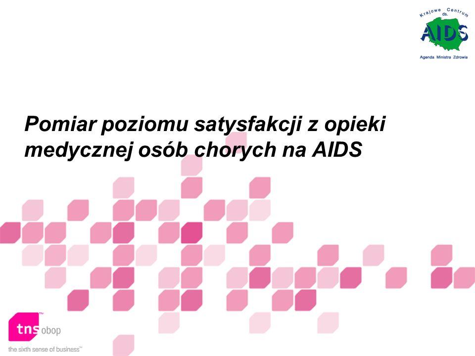 Pomiar poziomu satysfakcji z opieki medycznej osób chorych na AIDS