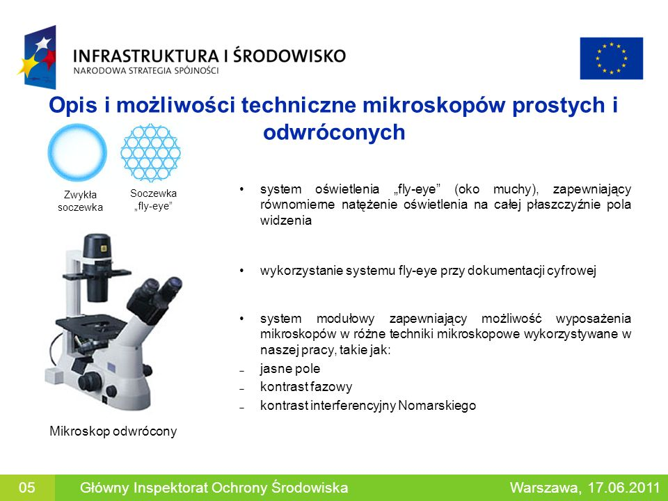 Opis i możliwości techniczne mikroskopów prostych i odwróconych