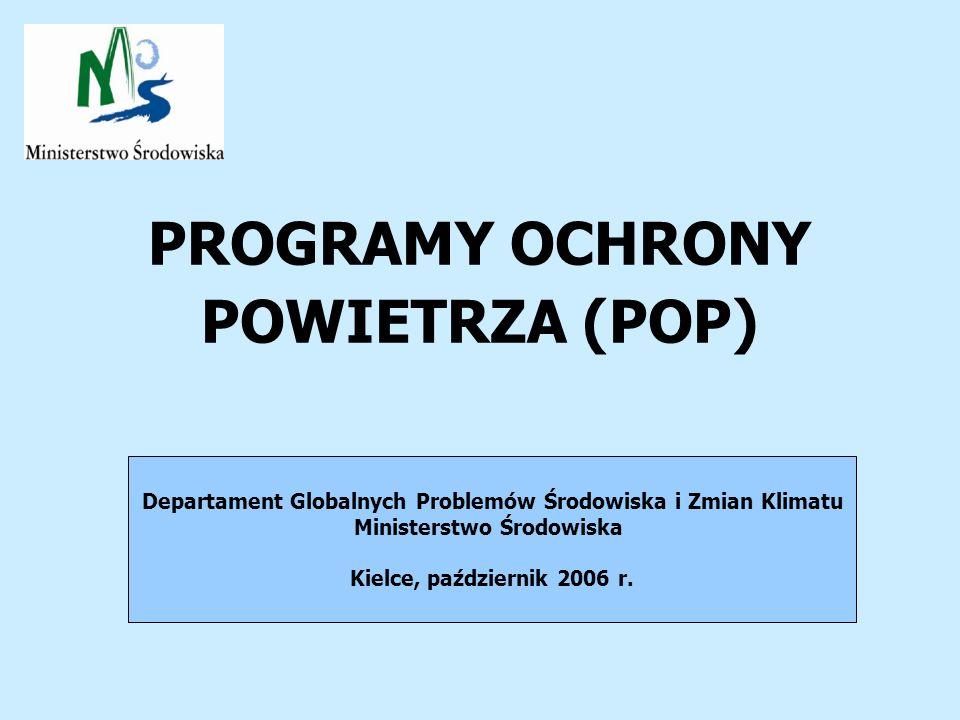 PROGRAMY OCHRONY POWIETRZA (POP)