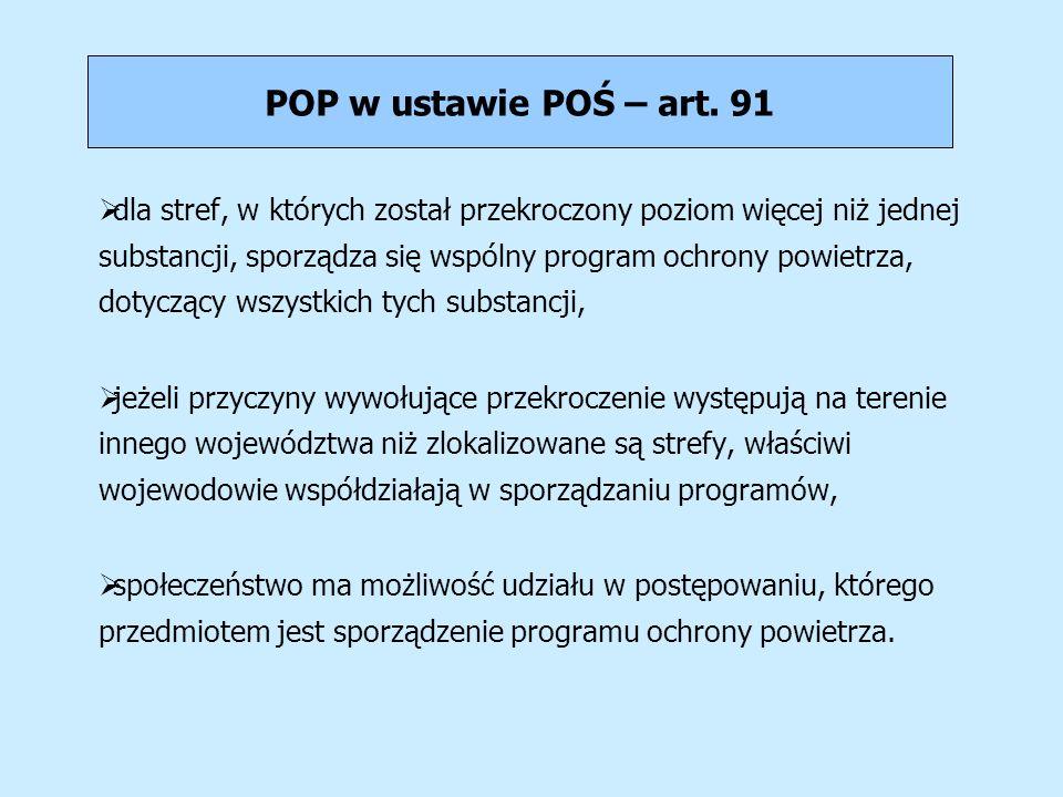 POP w ustawie POŚ – art. 91