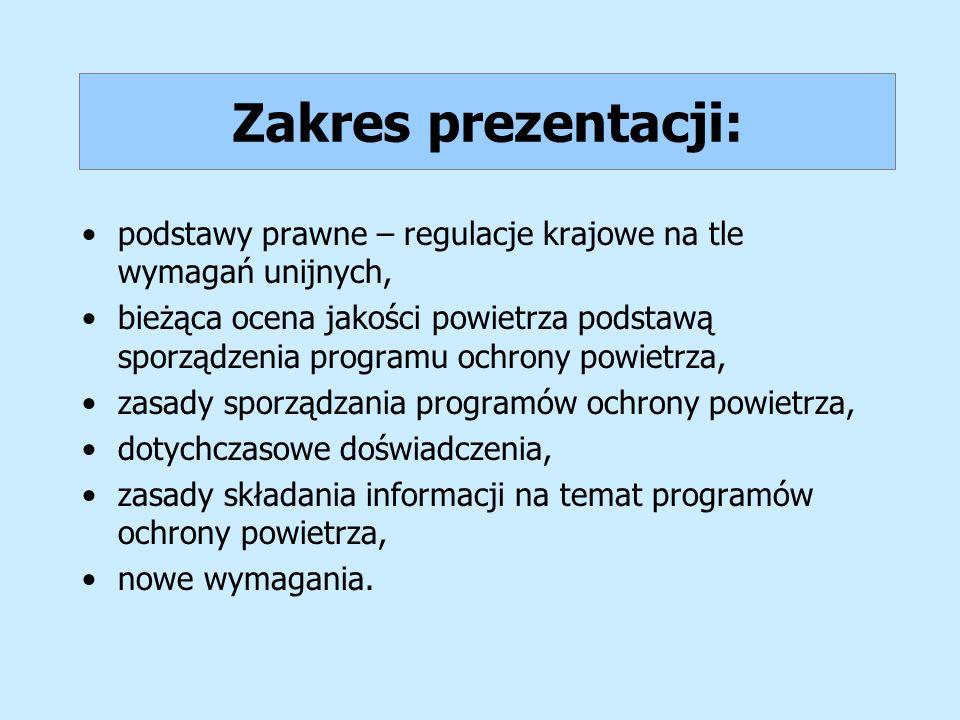 Zakres prezentacji: podstawy prawne – regulacje krajowe na tle wymagań unijnych,