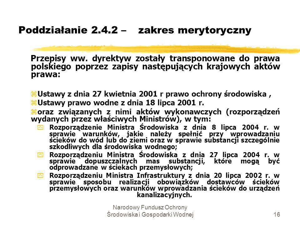 Poddziałanie 2.4.2 – zakres merytoryczny