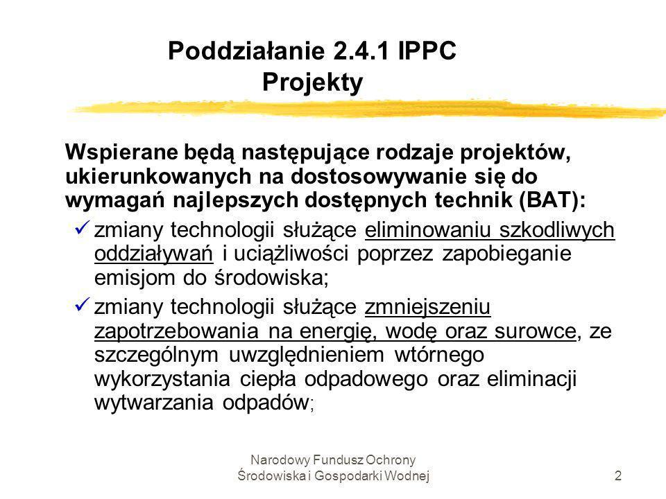 Poddziałanie 2.4.1 IPPC Projekty