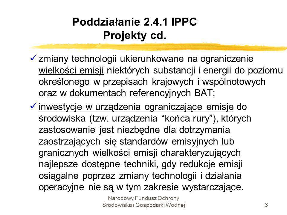 Poddziałanie 2.4.1 IPPC Projekty cd.