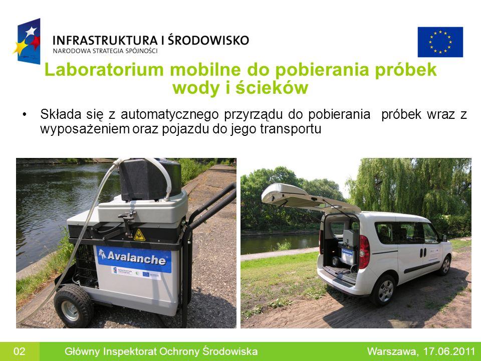 Laboratorium mobilne do pobierania próbek wody i ścieków