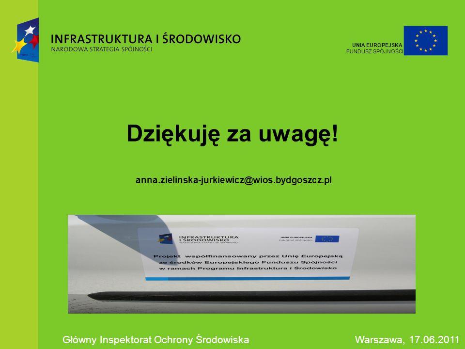 Dziękuję za uwagę! anna.zielinska-jurkiewicz@wios.bydgoszcz.pl