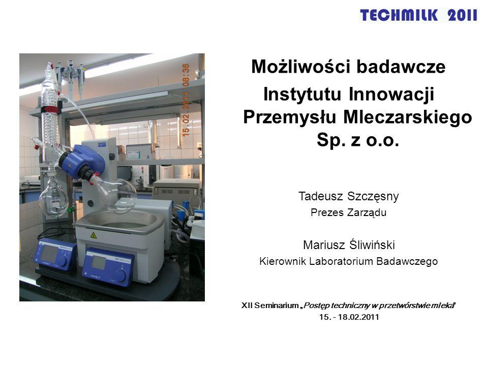 Instytutu Innowacji Przemysłu Mleczarskiego Sp. z o.o.