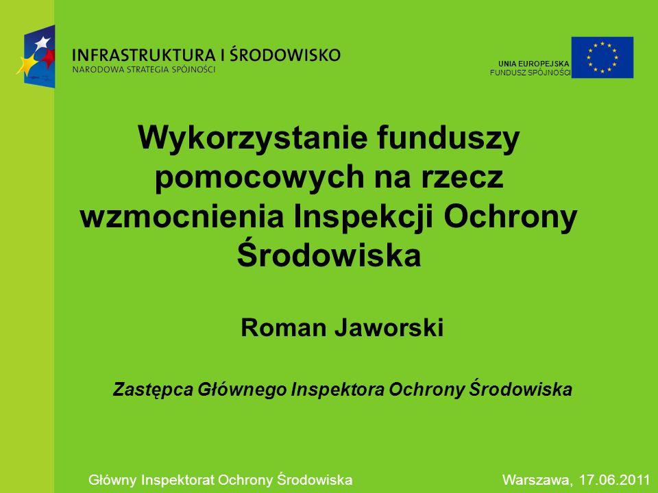 Roman Jaworski Zastępca Głównego Inspektora Ochrony Środowiska
