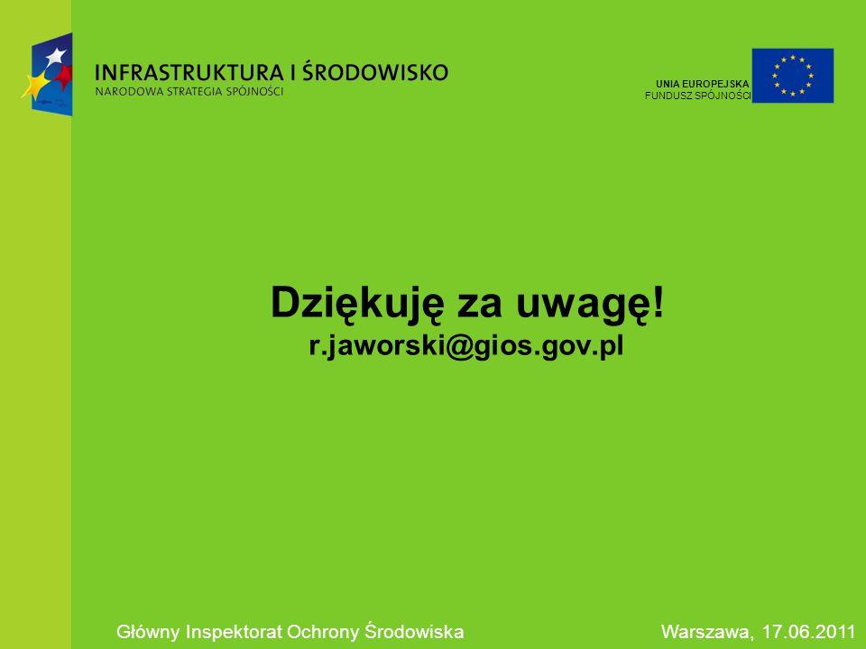 Dziękuję za uwagę! r.jaworski@gios.gov.pl