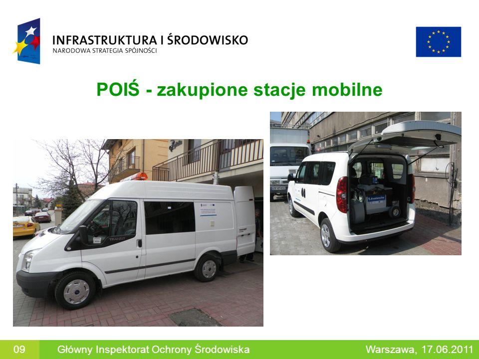 POIŚ - zakupione stacje mobilne
