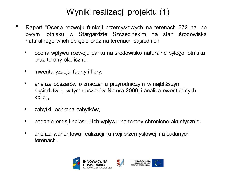Wyniki realizacji projektu (1)
