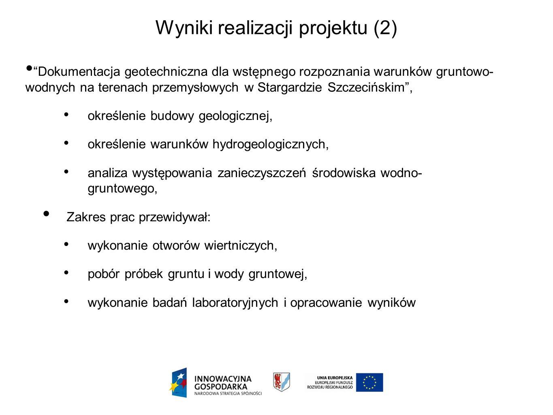 Wyniki realizacji projektu (2)