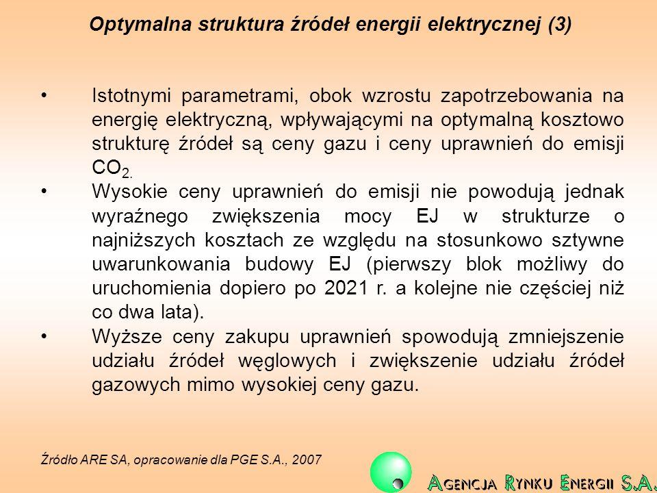 Optymalna struktura źródeł energii elektrycznej (3)