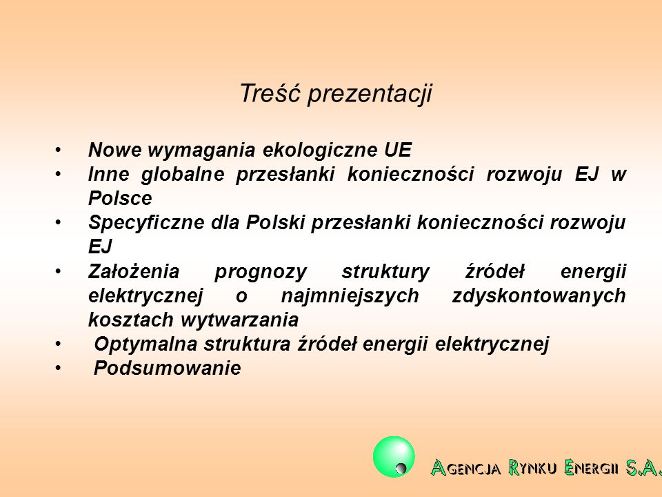 Treść prezentacji Nowe wymagania ekologiczne UE