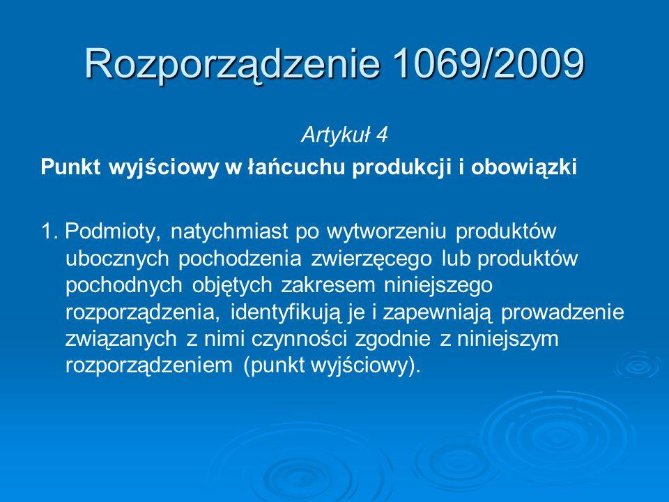 Rozporządzenie 1069/2009 Artykuł 4