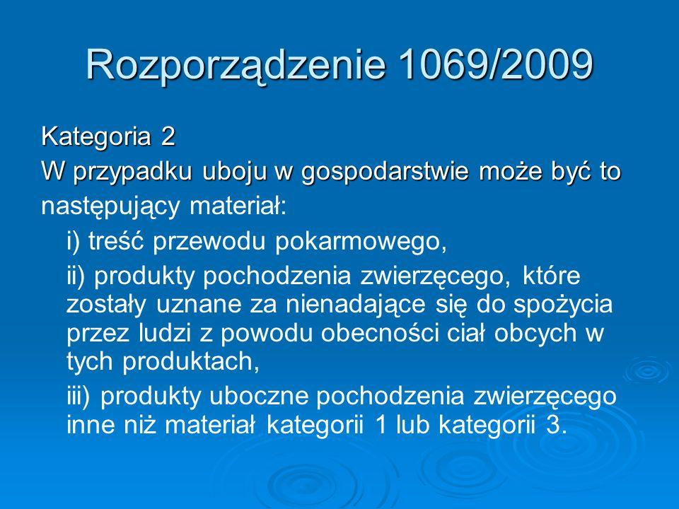 Rozporządzenie 1069/2009 Kategoria 2