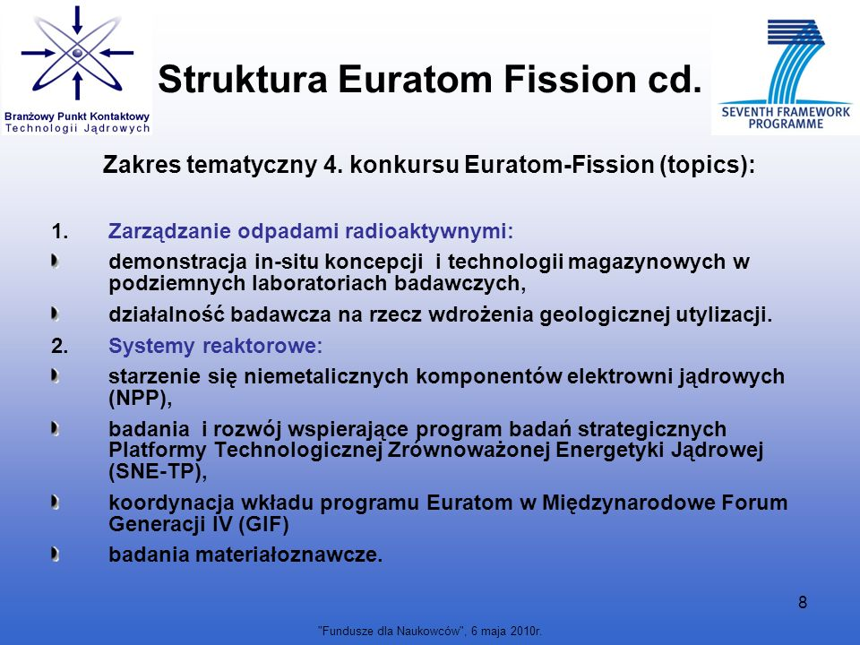Struktura Euratom Fission cd.